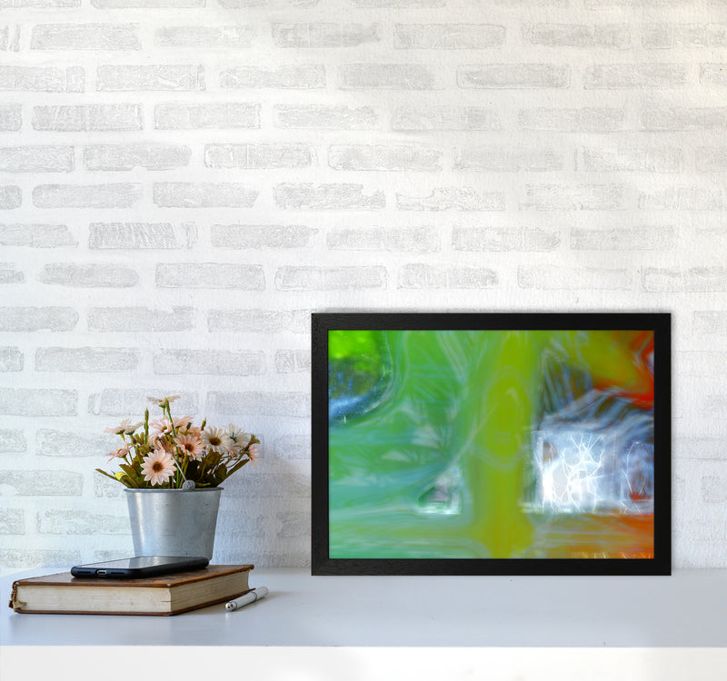 Storm Abstract Art Print by Henry Hu A3 White Frame