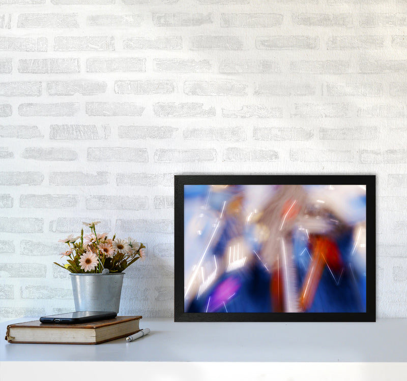 The Sail 7 Abstract Art Print by Henry Hu A3 White Frame