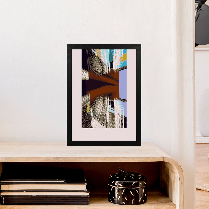 Unit 2 Abstract Art Print by Henry Hu A3 White Frame