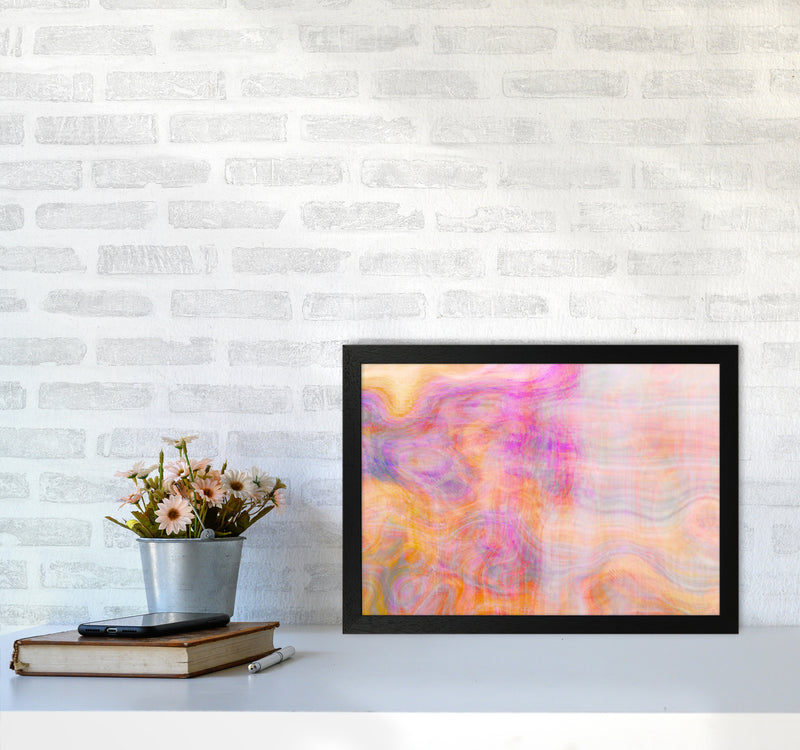 Creation 2 Abstract Art Print by Henry Hu A3 White Frame