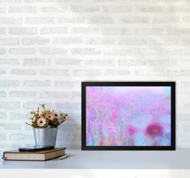September Breeze Abstract Art Print by Henry Hu A3 White Frame