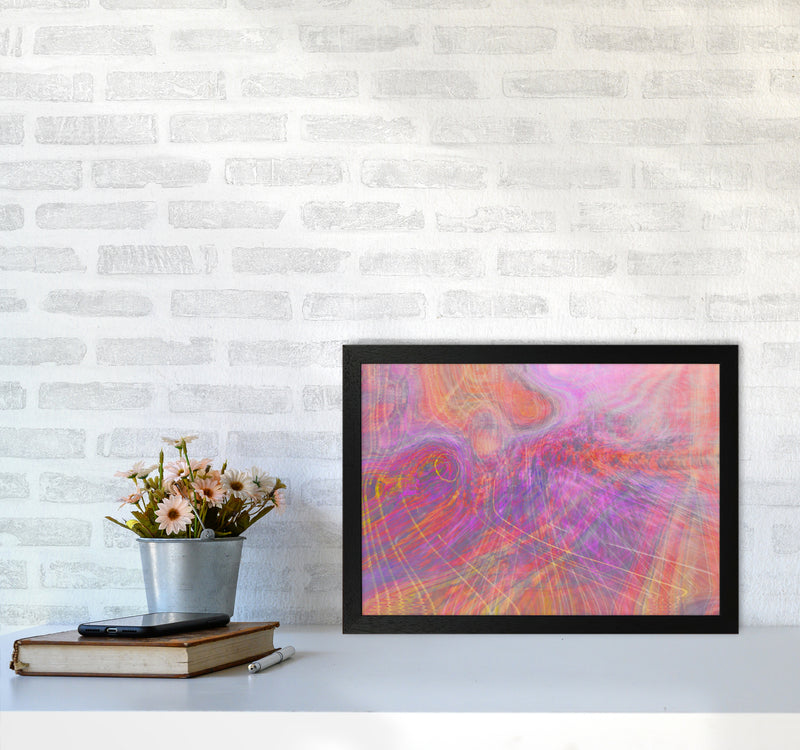Wake early Abstract Art Print by Henry Hu A3 White Frame