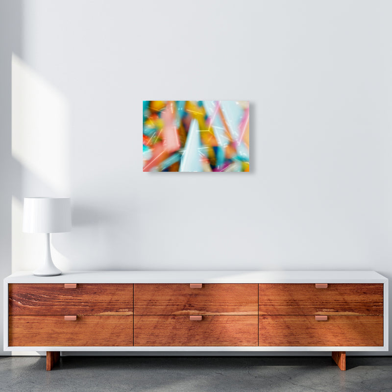 Rush 1 Abstract Art Print by Henry Hu A3 Canvas