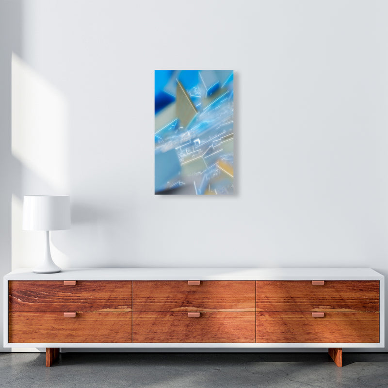 Electric Blue 6 Abstract Art Print by Henry Hu A3 Canvas
