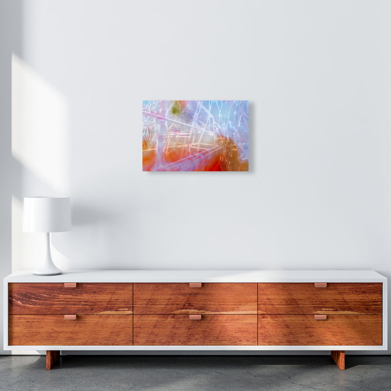 Neon Abstract Art Print by Henry Hu A3 Canvas