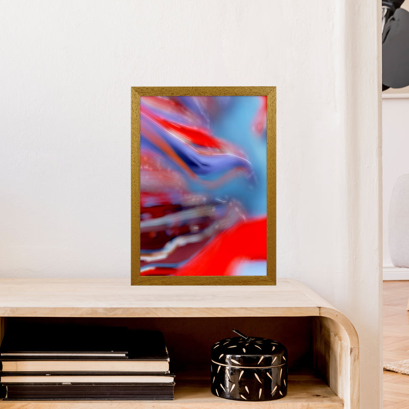 Red Stripe 2 Abstract Art Print by Henry Hu A3 Print Only