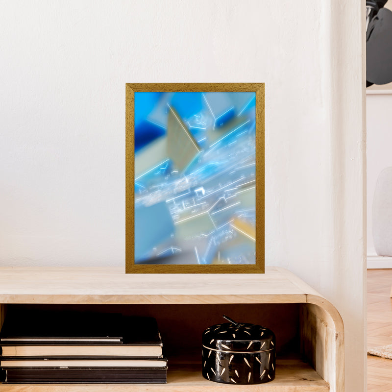 Electric Blue 6 Abstract Art Print by Henry Hu A3 Print Only