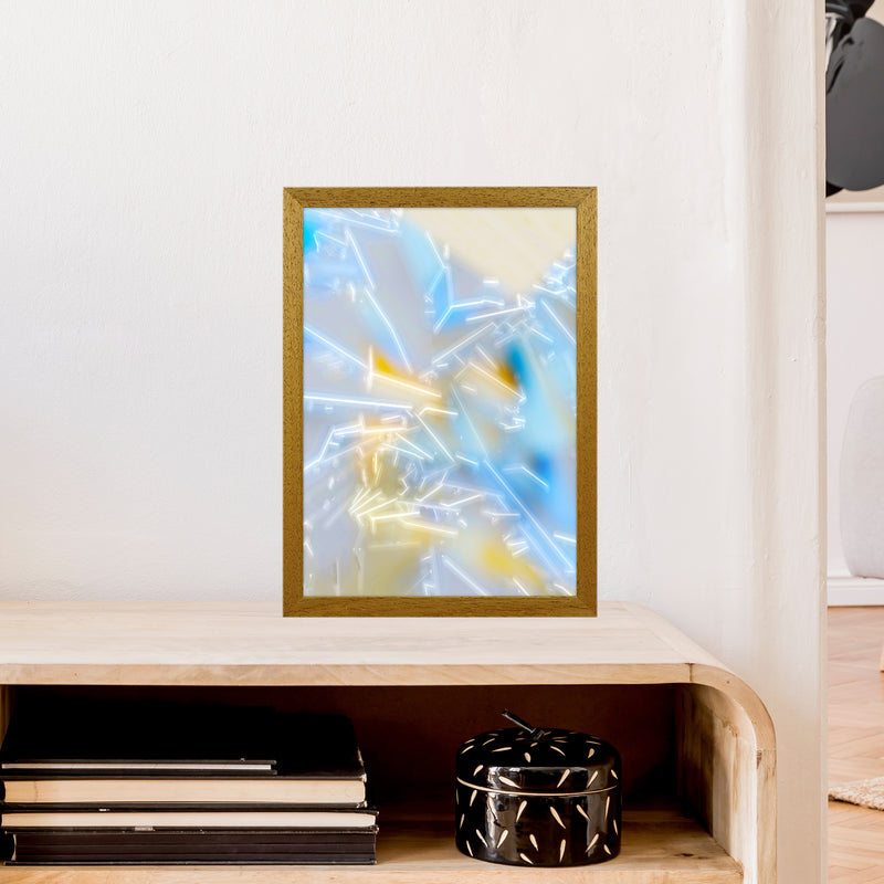 Electric Blue 2 Abstract Art Print by Henry Hu A3 Print Only