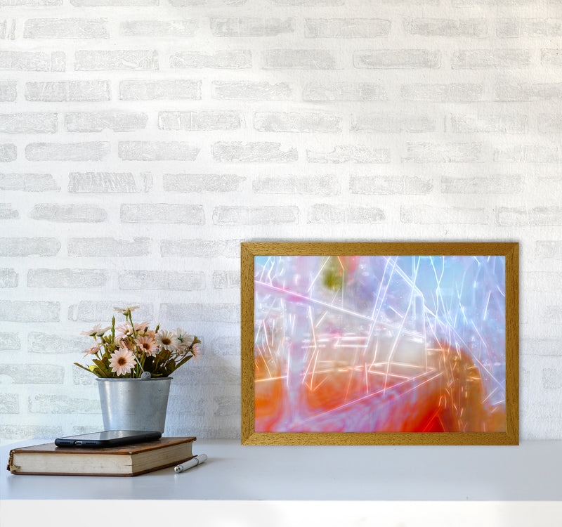 Neon Abstract Art Print by Henry Hu A3 Print Only