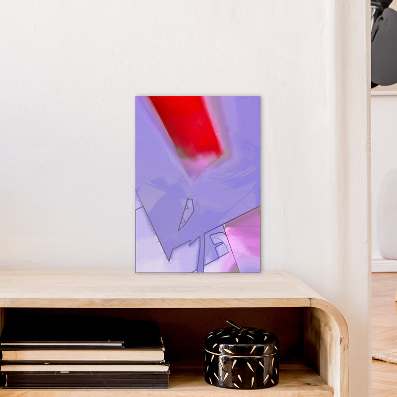 Frontseat Abstract Art Print by Henry Hu A3 Black Frame