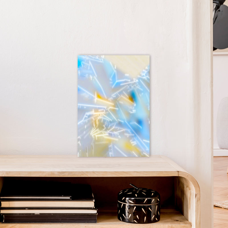 Electric Blue 2 Abstract Art Print by Henry Hu A3 Black Frame