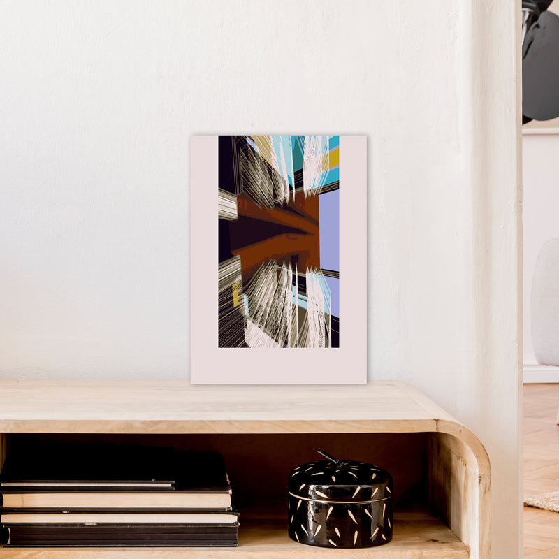 Unit 2 Abstract Art Print by Henry Hu A3 Black Frame