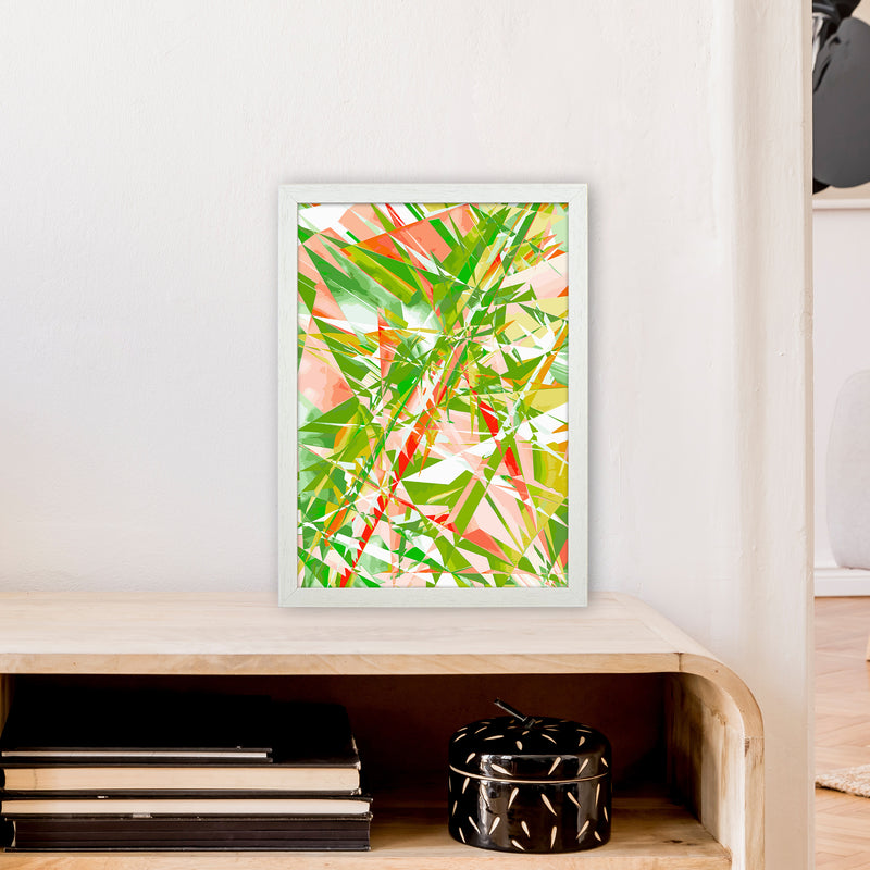 Shatter 4 Abstract Art Print by Henry Hu A3 Oak Frame