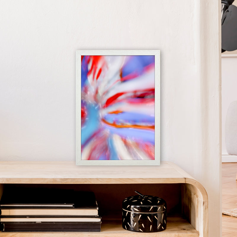 Fogs up 5 Abstract Art Print by Henry Hu A3 Oak Frame