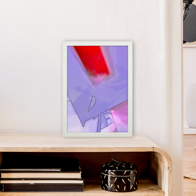 Frontseat Abstract Art Print by Henry Hu A3 Oak Frame