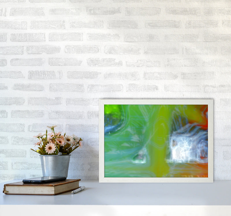 Storm Abstract Art Print by Henry Hu A3 Oak Frame