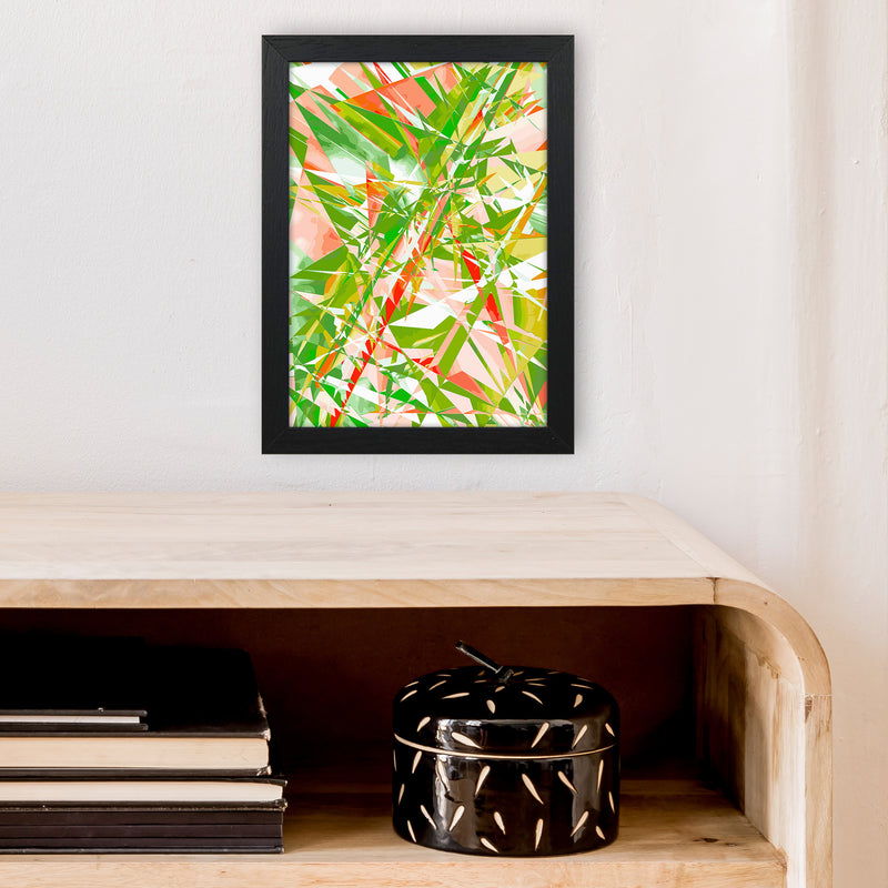 Shatter 4 Abstract Art Print by Henry Hu A4 White Frame