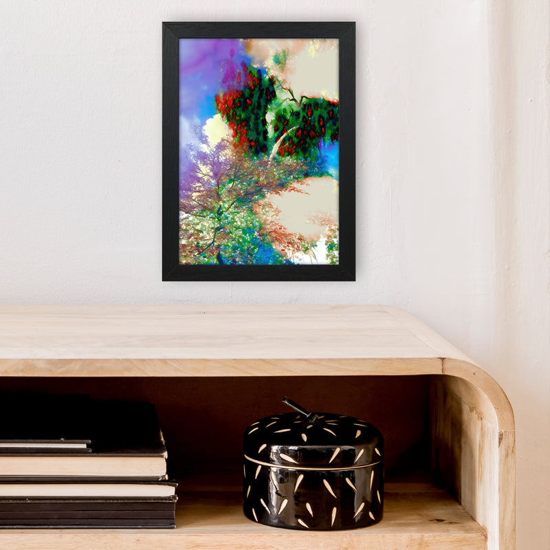 Sweet Tea 9 Abstract Art Print by Henry Hu A4 White Frame