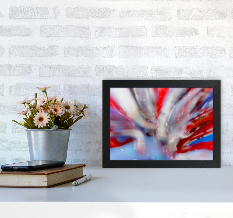 Exposure 4 Abstract Art Print by Henry Hu A4 White Frame