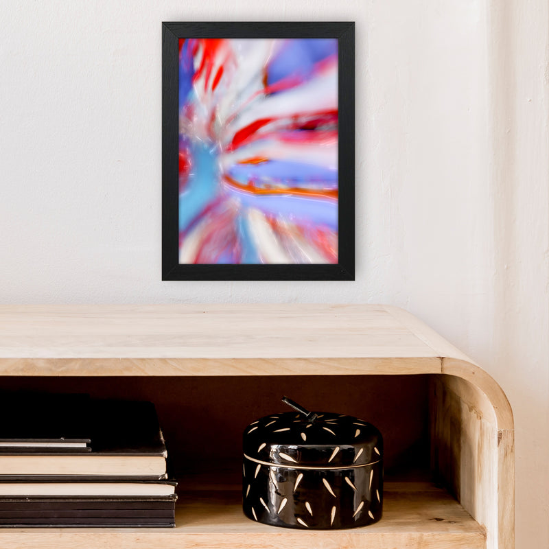 Fogs up 5 Abstract Art Print by Henry Hu A4 White Frame
