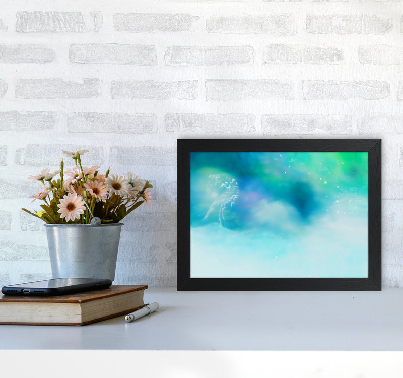 Clearing 1 Abstract Art Print by Henry Hu A4 White Frame