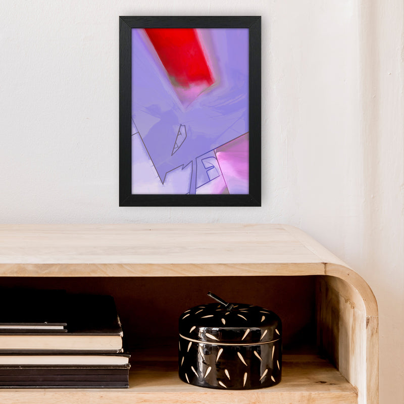 Frontseat Abstract Art Print by Henry Hu A4 White Frame