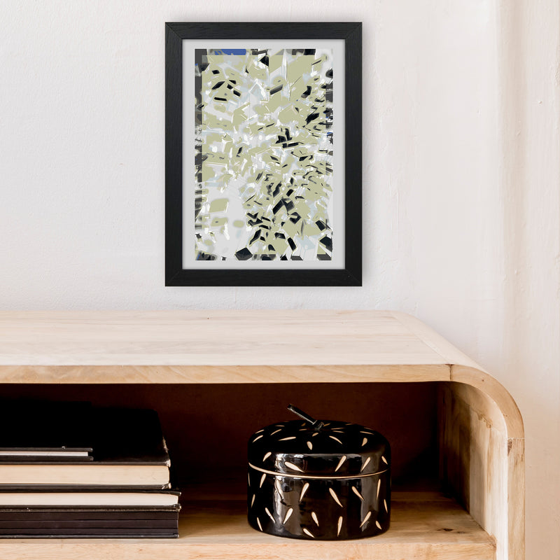 Pane 4 Abstract Art Print by Henry Hu A4 White Frame