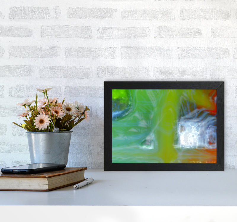 Storm Abstract Art Print by Henry Hu A4 White Frame
