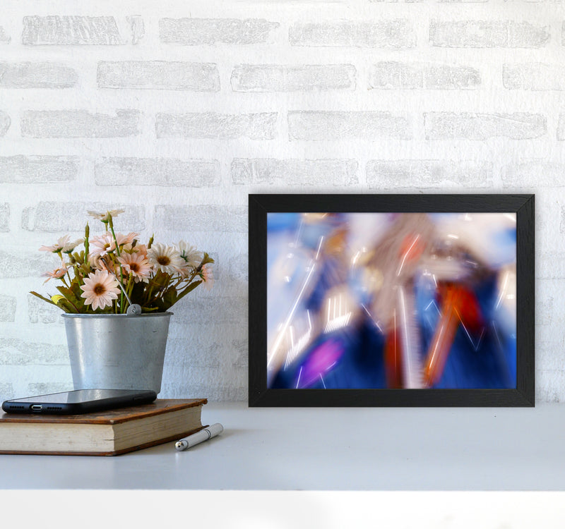 The Sail 7 Abstract Art Print by Henry Hu A4 White Frame