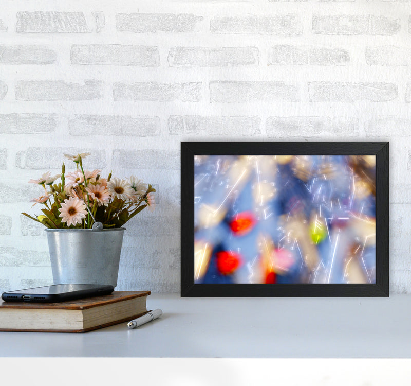 The Sail 5 Abstract Art Print by Henry Hu A4 White Frame