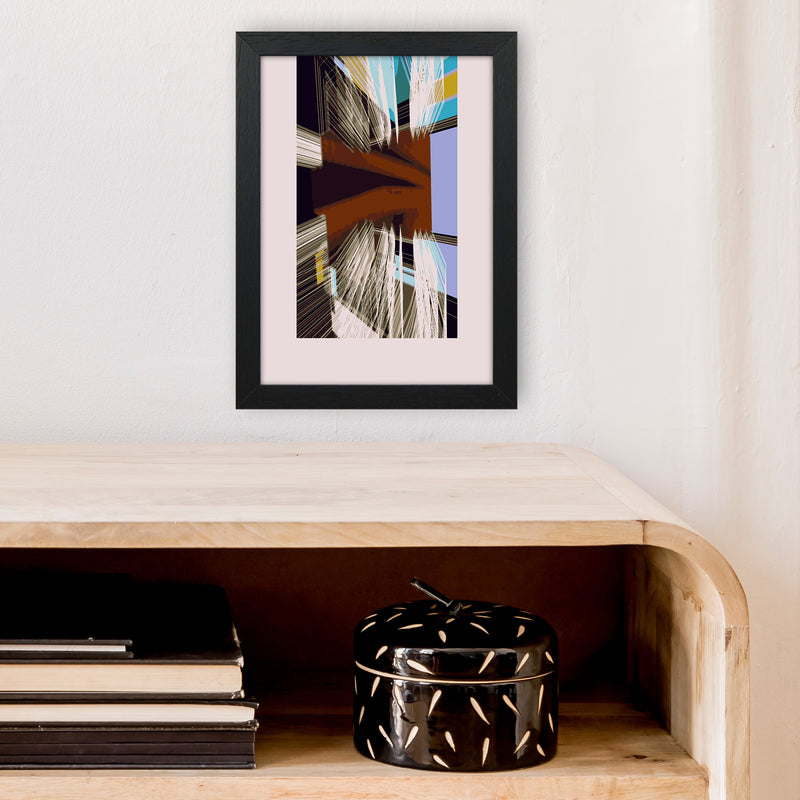 Unit 2 Abstract Art Print by Henry Hu A4 White Frame