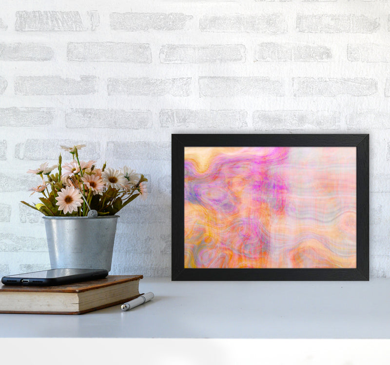 Creation 2 Abstract Art Print by Henry Hu A4 White Frame
