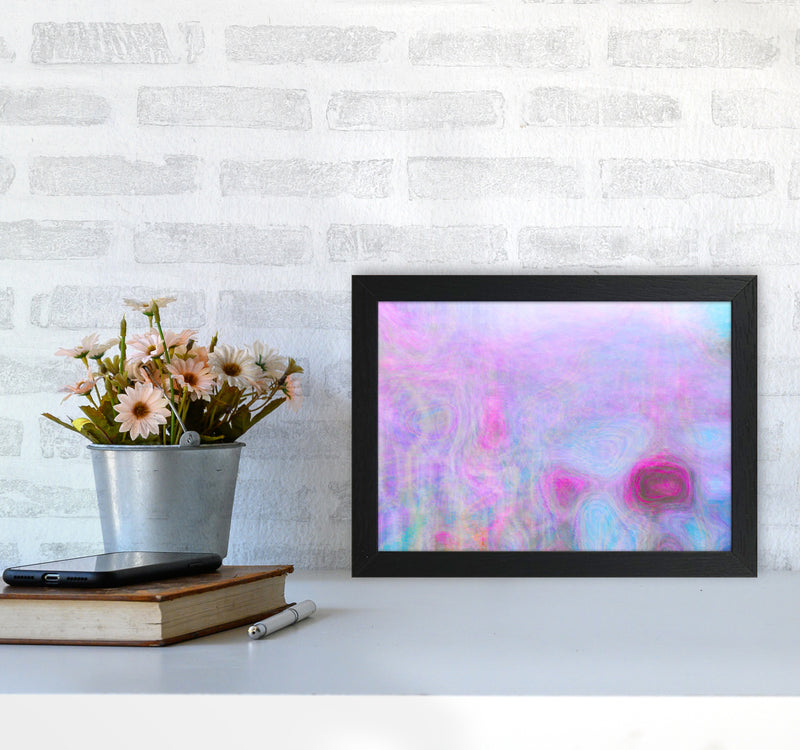 September Breeze Abstract Art Print by Henry Hu A4 White Frame