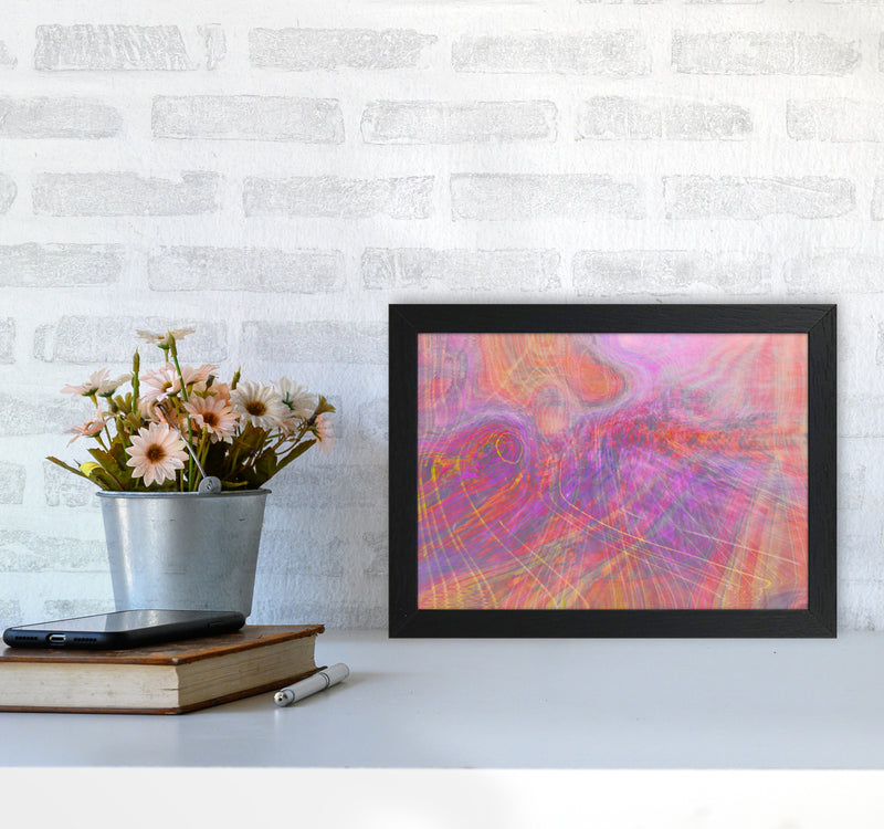 Wake early Abstract Art Print by Henry Hu A4 White Frame
