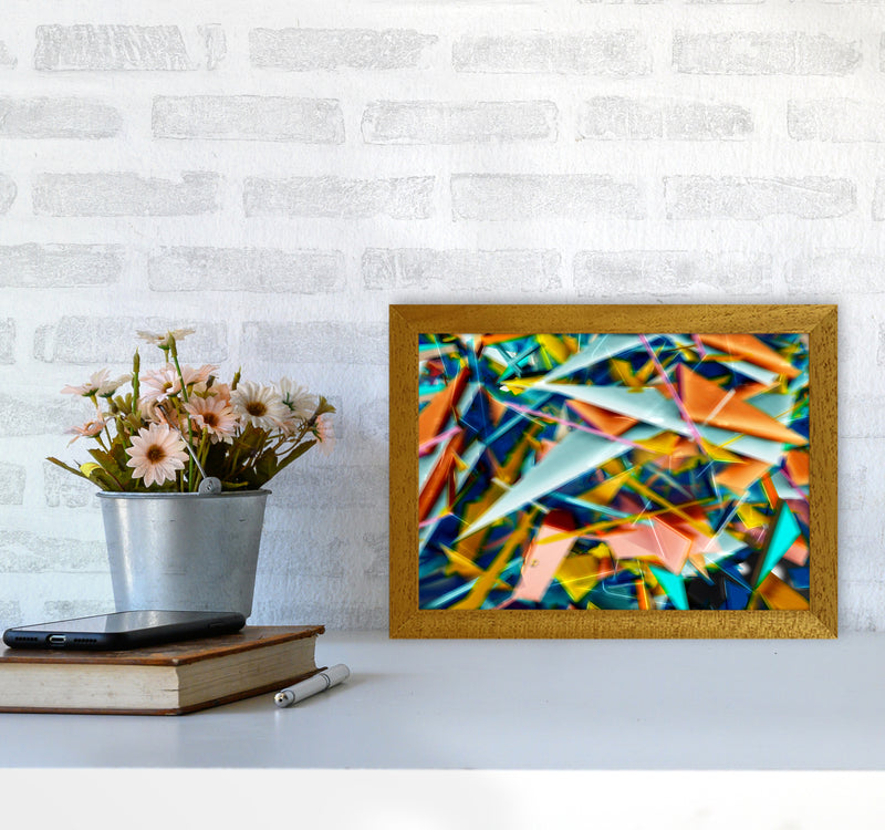 Blurred Triangles 2 Abstract Art Print by Henry Hu A4 Print Only