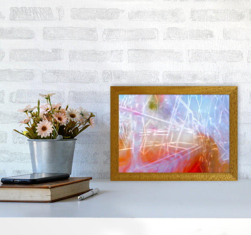 Neon Abstract Art Print by Henry Hu A4 Print Only