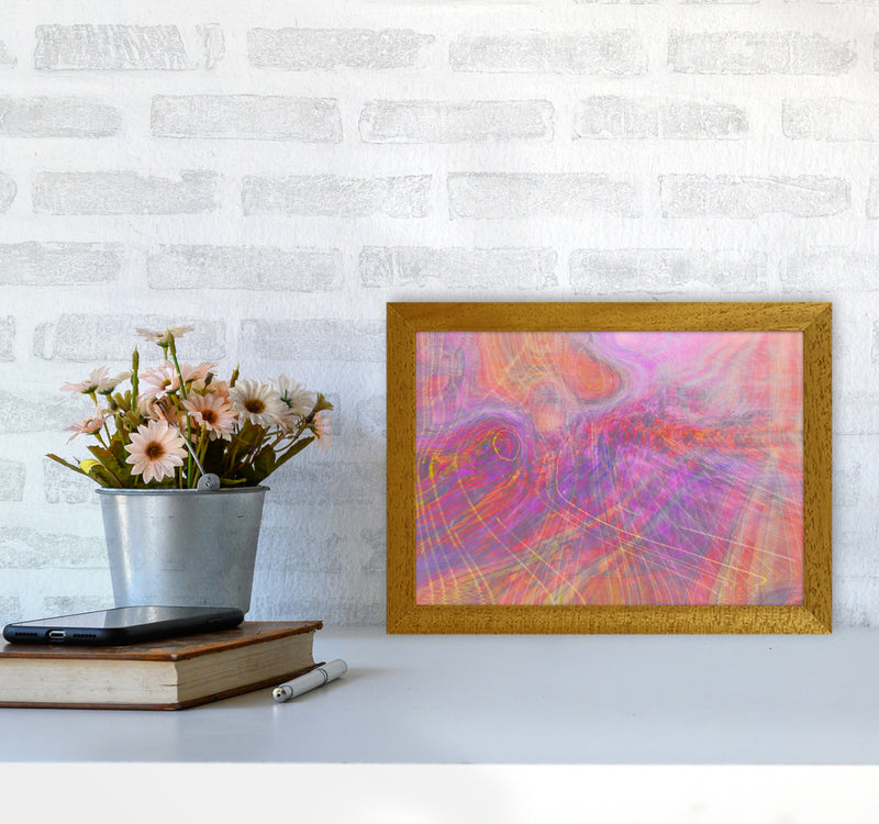 Wake early Abstract Art Print by Henry Hu A4 Print Only