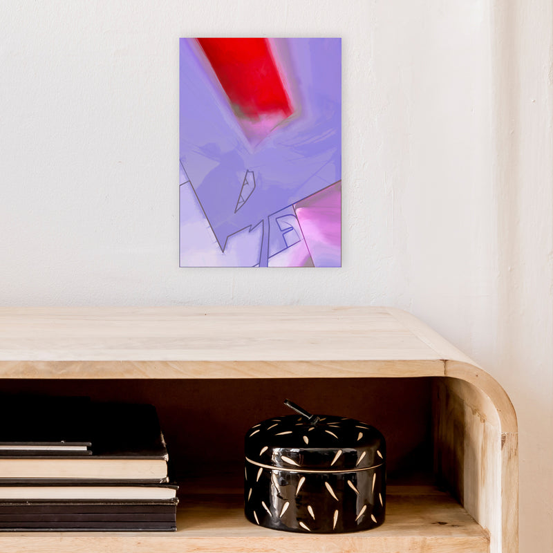 Frontseat Abstract Art Print by Henry Hu A4 Black Frame