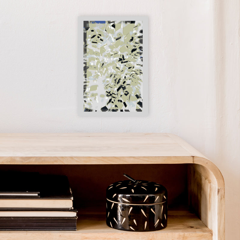 Pane 4 Abstract Art Print by Henry Hu A4 Black Frame
