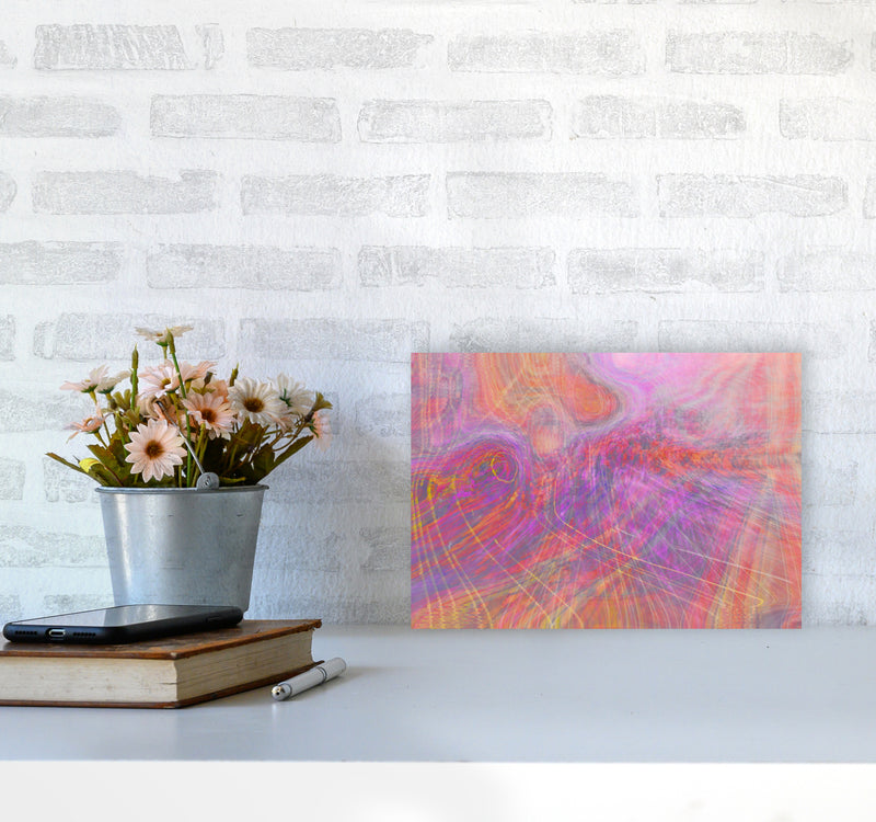 Wake early Abstract Art Print by Henry Hu A4 Black Frame