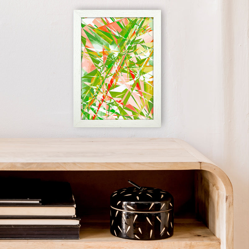 Shatter 4 Abstract Art Print by Henry Hu A4 Oak Frame