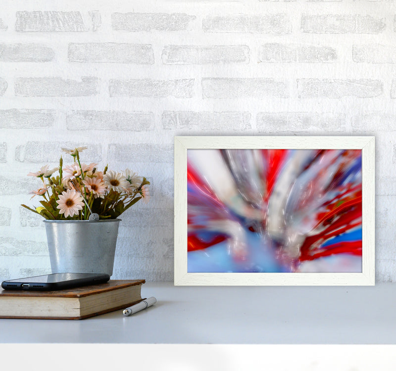 Exposure 4 Abstract Art Print by Henry Hu A4 Oak Frame