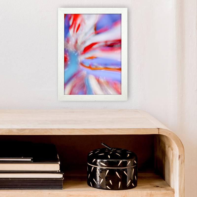 Fogs up 5 Abstract Art Print by Henry Hu A4 Oak Frame