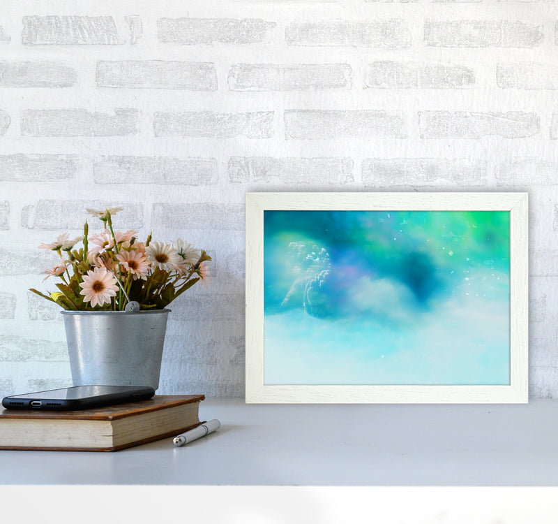 Clearing 1 Abstract Art Print by Henry Hu A4 Oak Frame