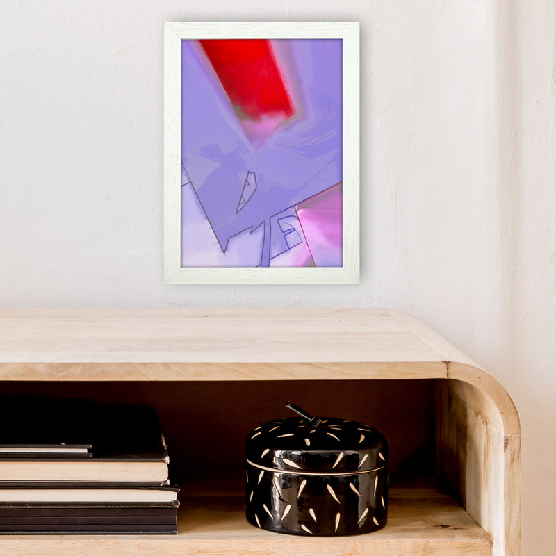 Frontseat Abstract Art Print by Henry Hu A4 Oak Frame