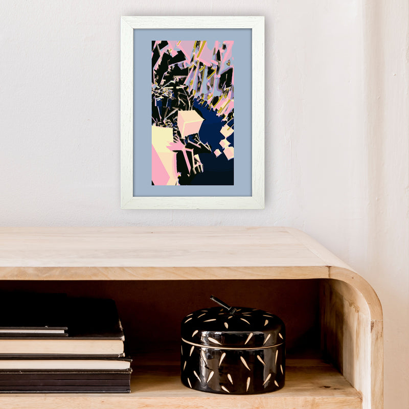 Abstract Cubes Abstract Art Print by Henry Hu A4 Oak Frame
