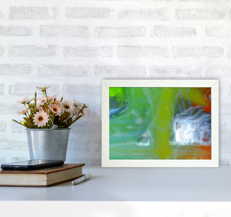 Storm Abstract Art Print by Henry Hu A4 Oak Frame