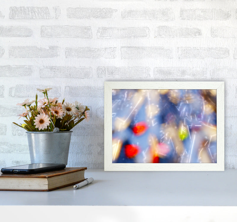 The Sail 5 Abstract Art Print by Henry Hu A4 Oak Frame