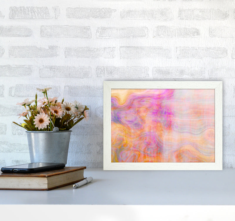 Creation 2 Abstract Art Print by Henry Hu A4 Oak Frame