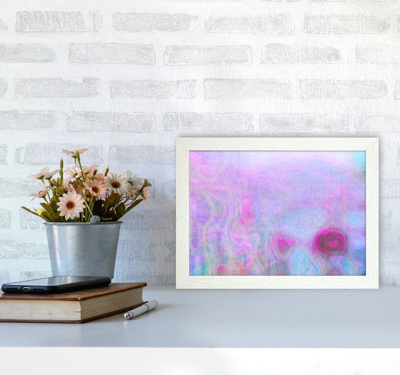 September Breeze Abstract Art Print by Henry Hu A4 Oak Frame